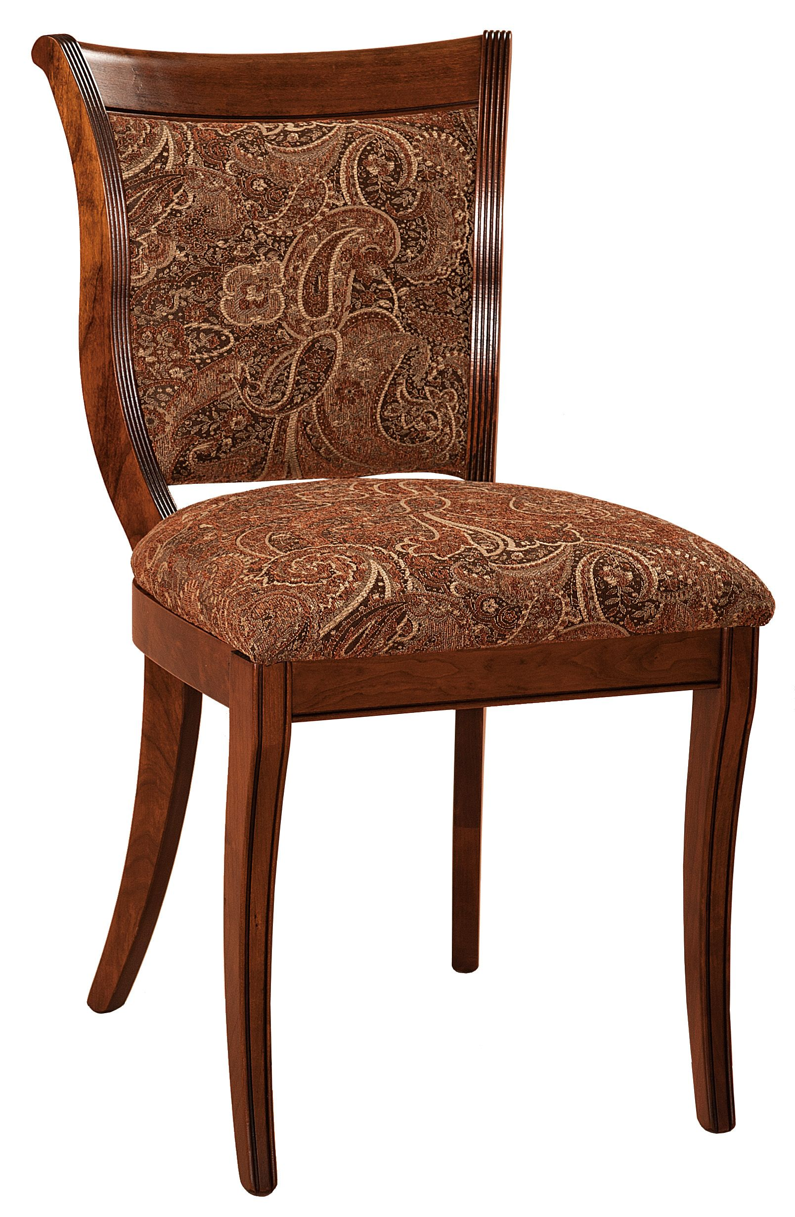 Upholstered Dining Room Chairs Amish Oak In Texas Dining Room