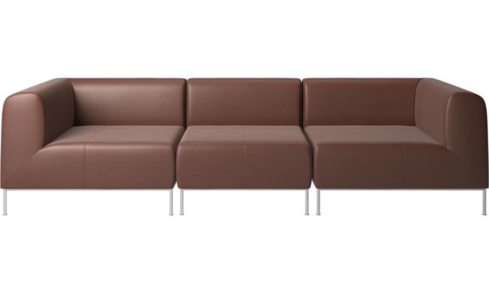 3 seater sofas - Miami sofa - Brown - Leather | SF Apt | 3 ...