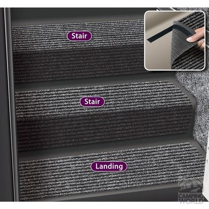 Image Decorian 13.5 Inch Step Huggers for Stairs - Black Granite. To Enlarge the image, click Control-Option-Spacebar