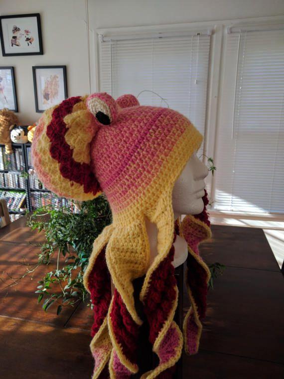 Oktopus Hut häkeln | Crochet | Pinterest | Hut häkeln, Oktopus und Hüte