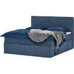 Photo of Box spring bed – blue – 180 cm – 125 cm – beds> double beds furniture Kraft