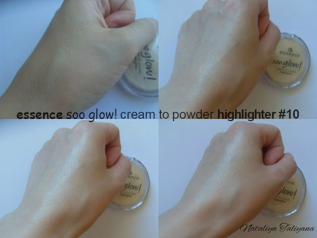 essence cream to powder highlighter 10 look on the bright side