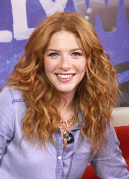 Rachelle Lefevre at Access Hollywood. Hair by Kylee Heath.