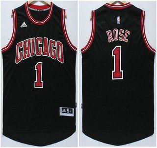 derrick rose swingman jersey black