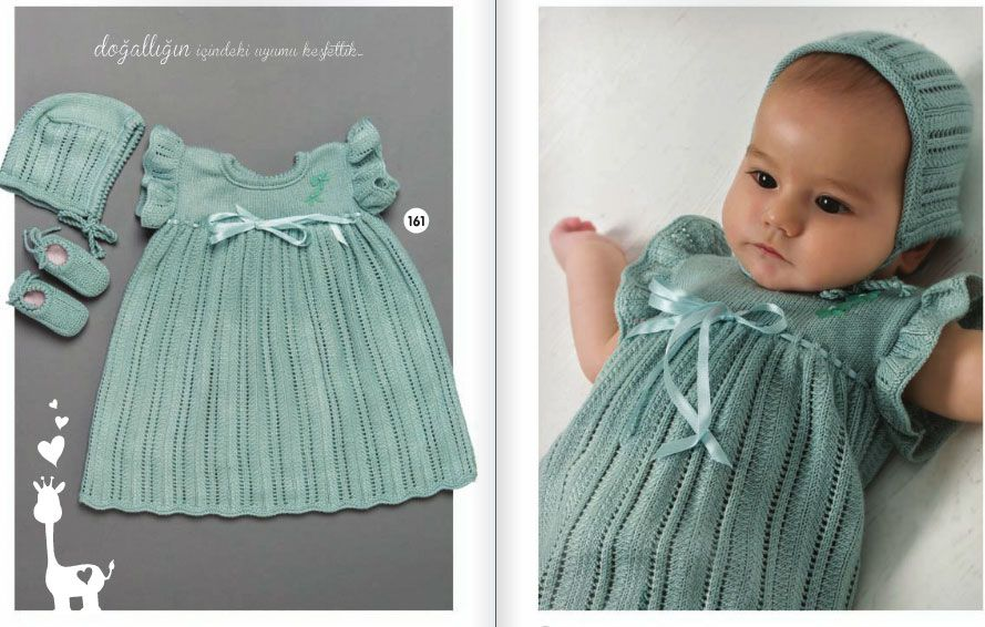 48d3e59f5 Beautiful baby knitted dress pattern for 0-12 months! Find the free baby  knitted
