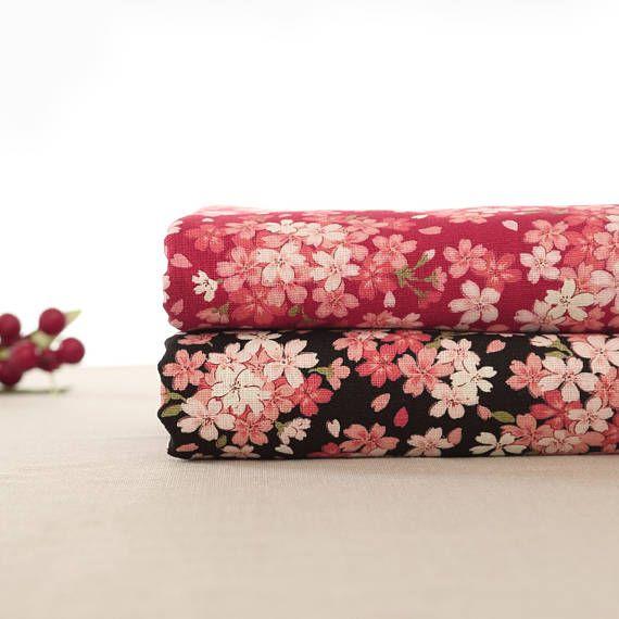 110cm / 43 inch Width Flower Floral Cotton Fabric Half Yard