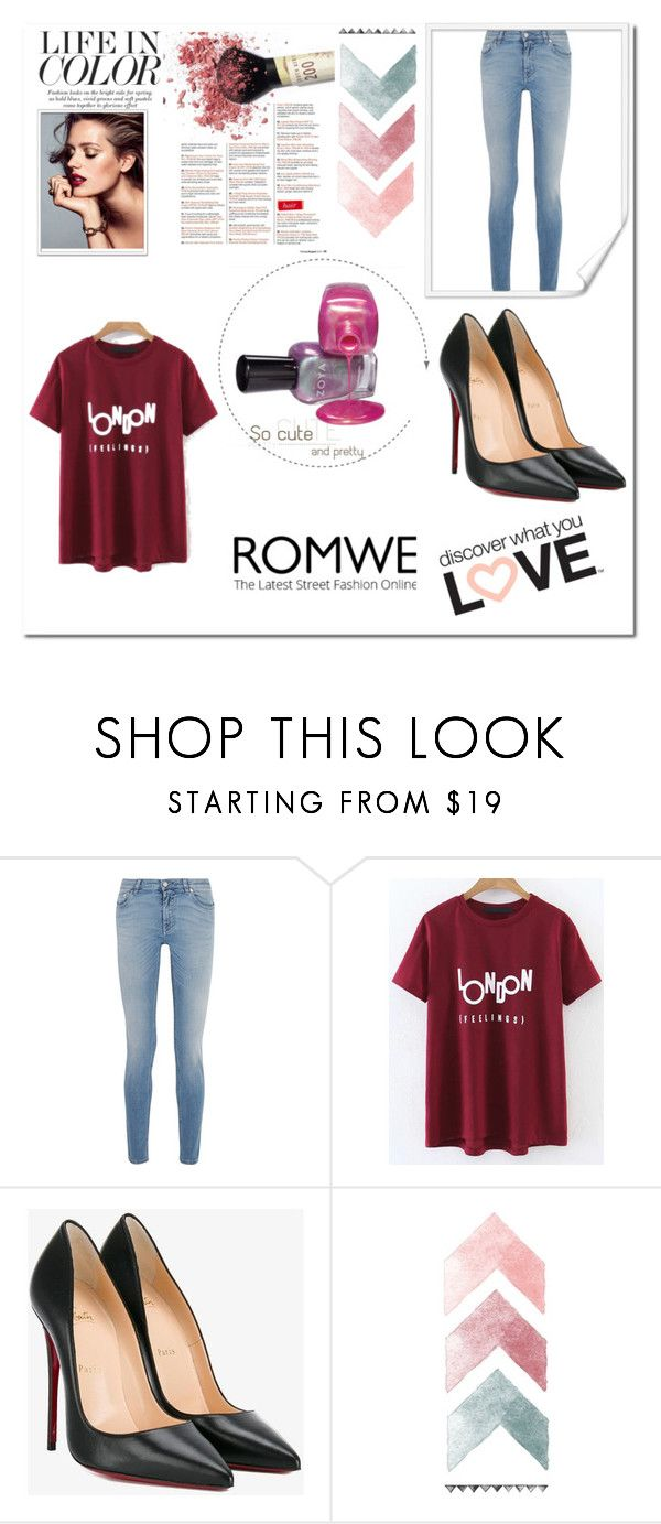 """Romwe"" by elma-avdic ❤ liked on Polyvore featuring Givenchy and Christian Louboutin"