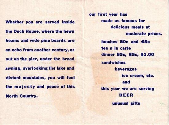 Vintage Old Dock House Restaurant Brochure (interior) Essex on - restarunt brochure