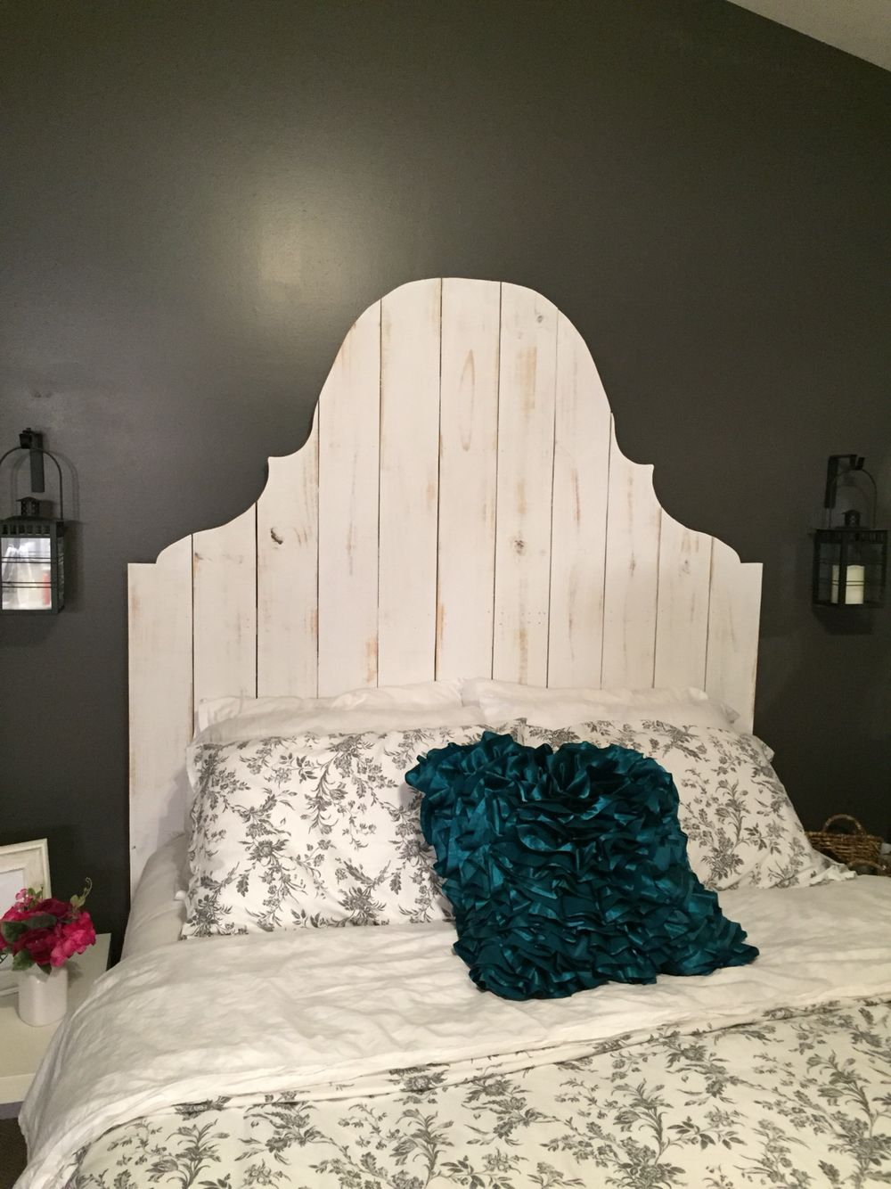 Diy headboard with fence panels cottage furniture home