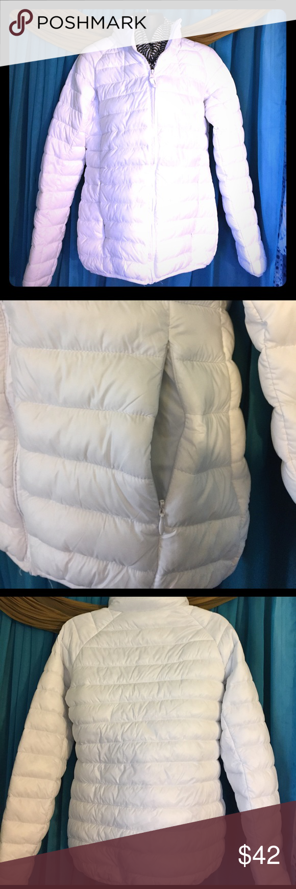 Jackson Hole Lightweight Puffer Jacket Nwot Sizem White Puffer Jacket Jackets Clothes Design [ 1740 x 580 Pixel ]
