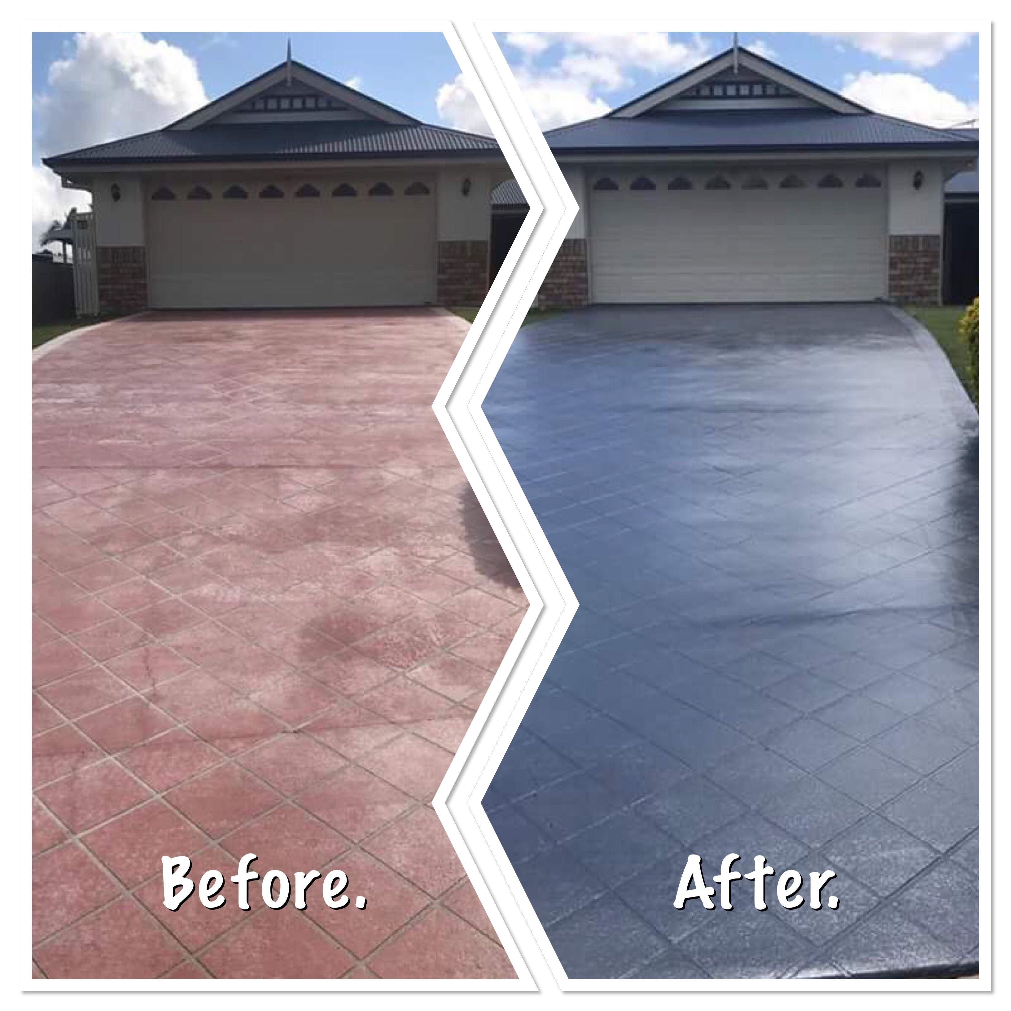 Driveway Painting Sealing In Brisbane By Waterworx Pressure Cleaning Modern Driveway Pressure Washing Roof Repair