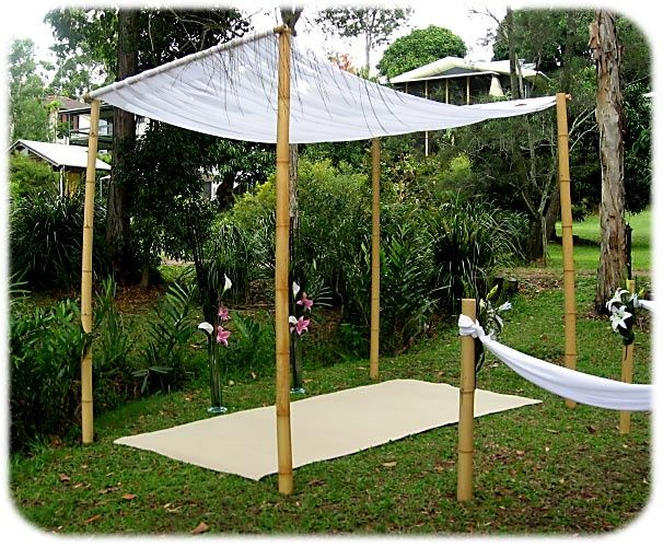 bamboo canopy rails