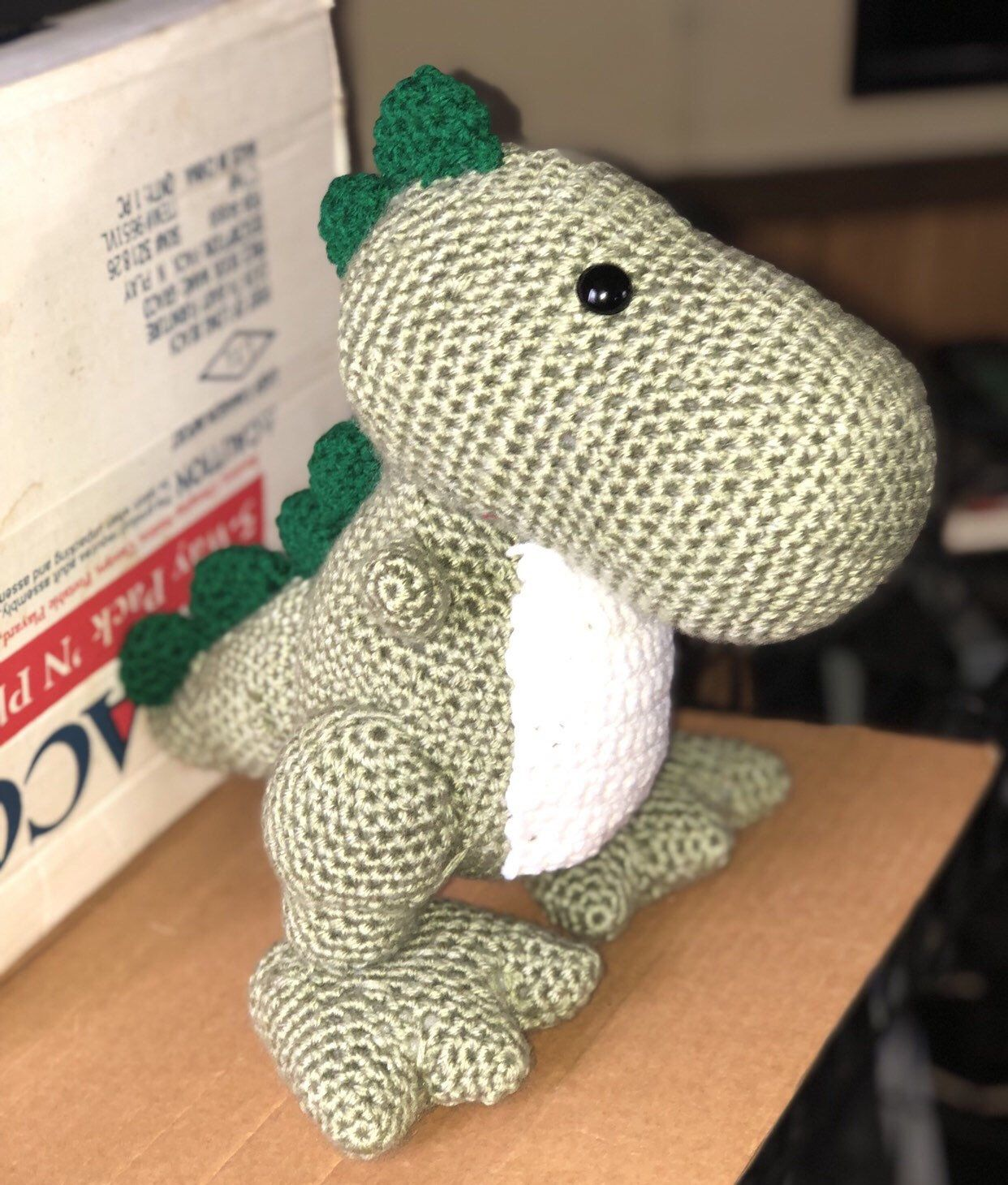 T Rex Handmade, Etsy, Dinosaur stuffed animal
