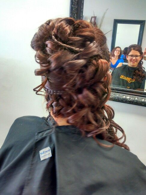 Up do, curls,wedding,prom, graduation hairstyle. | Graduation hairstyles, Hair styles, Hair