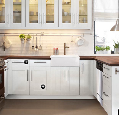Hooked On Butcher Block Counters Ikea Small Kitchen Wood Countertops Kitchen Small Kitchen Cabinet Design