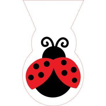 LadyBug Fancy Treat Bags