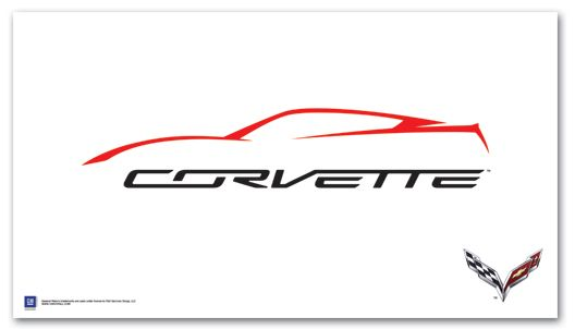 c7 corvette outline art poster