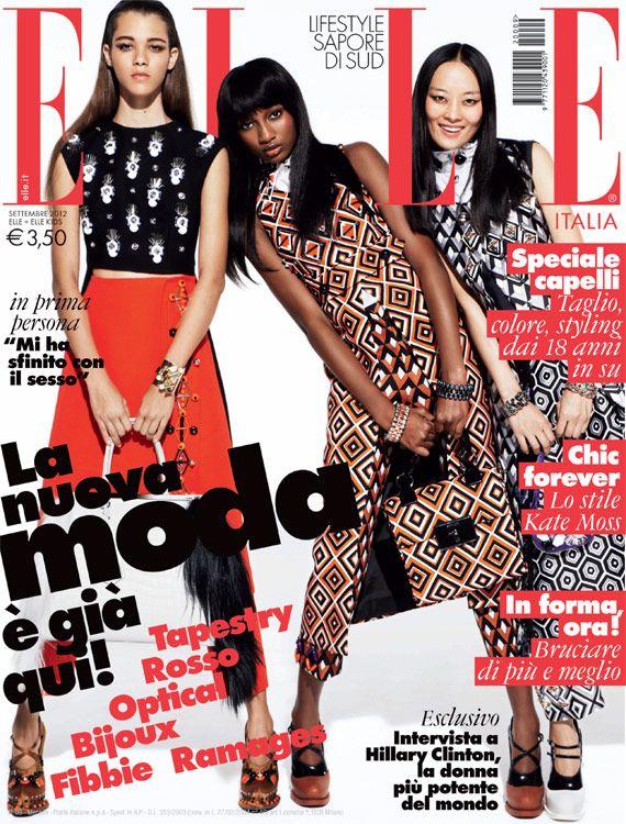 ELLE ITALIA - Confira as diferentes capas de setembro das revistas ELLE ao redor do mundo: http://abr.io/4iIh | fotos REPRODUÇÃO