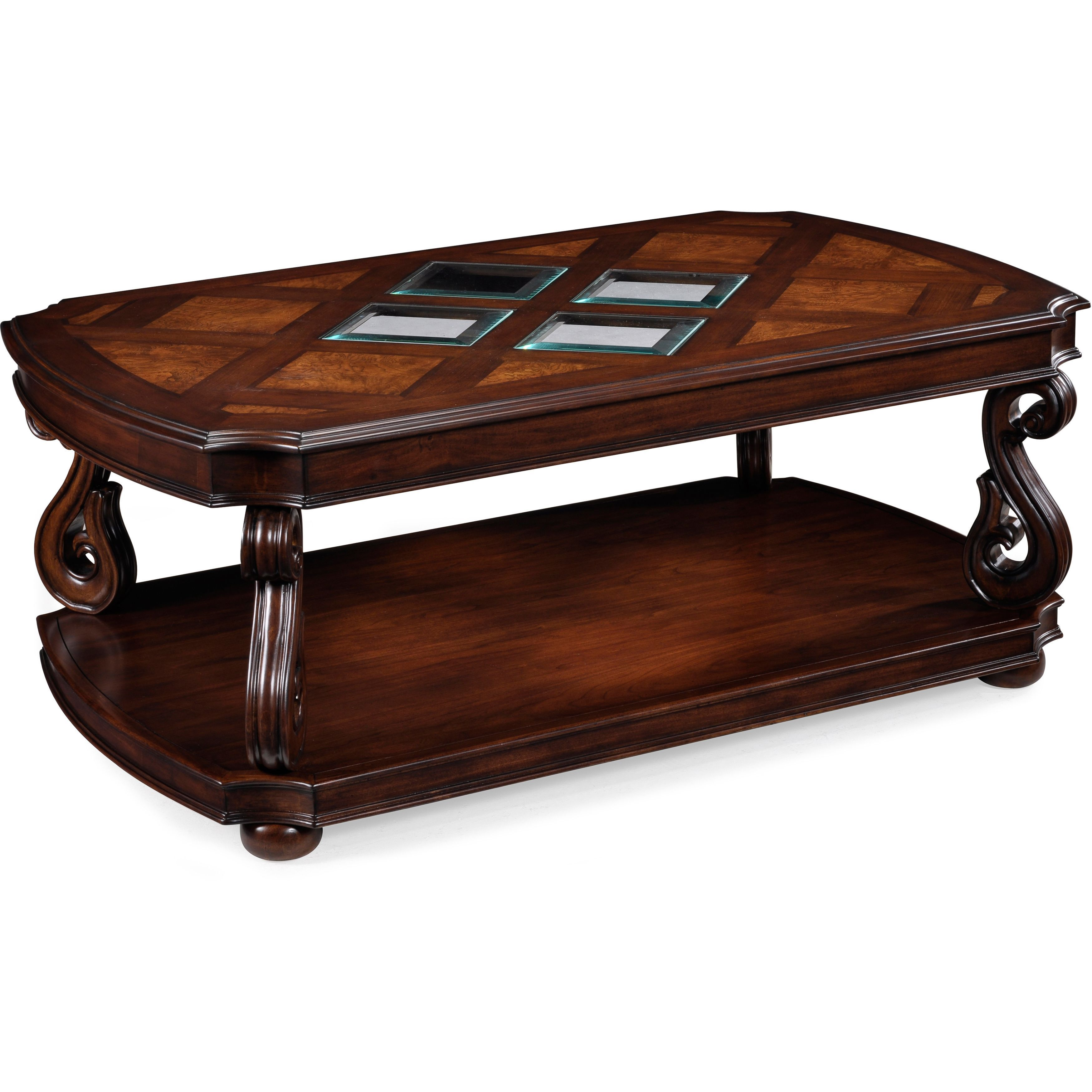Harcourt Traditional Neo Italian Cherry Coffee Table With Casters