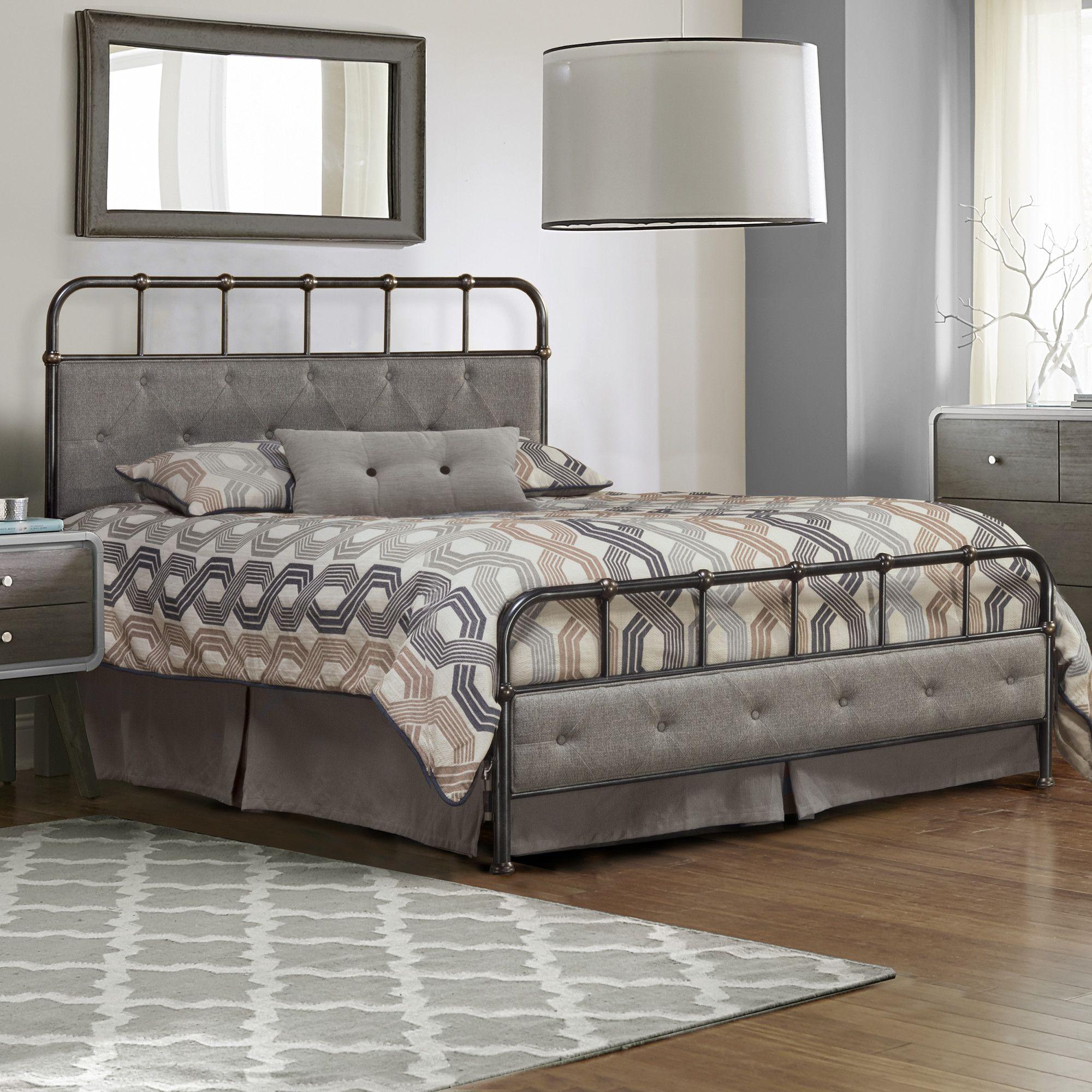 Argens Upholstered Panel Bed Upholstered panel bed, Bed