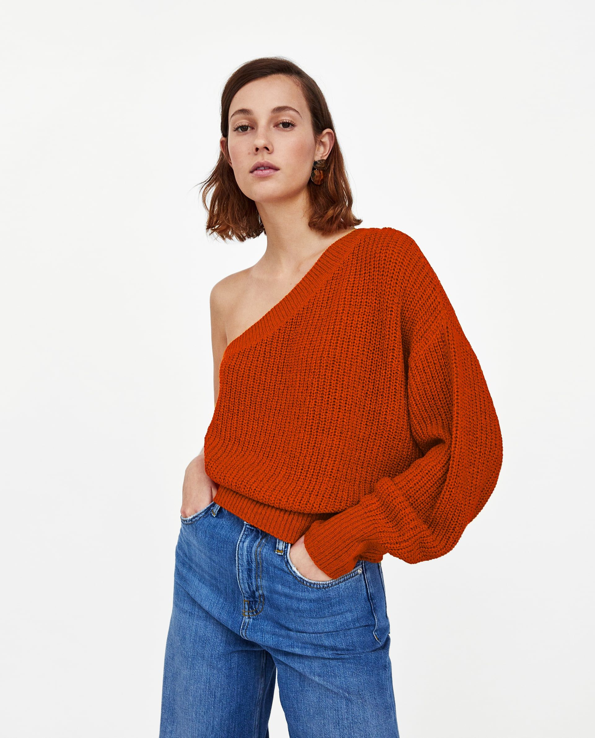 113043ab Image 2 of ASYMMETRIC SWEATER WITH TRIMS from Zara | Clothes and ...