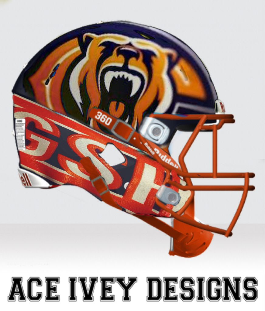 307d81942 Bears Prototype Helmet Designed By Ace Ivey Chicago Bears Helmet