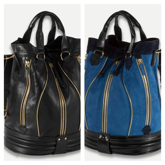 29c26b7363 Lacoste Cathy Bucket Bag in leather & suede | UTILITY | Bags, Bucket ...