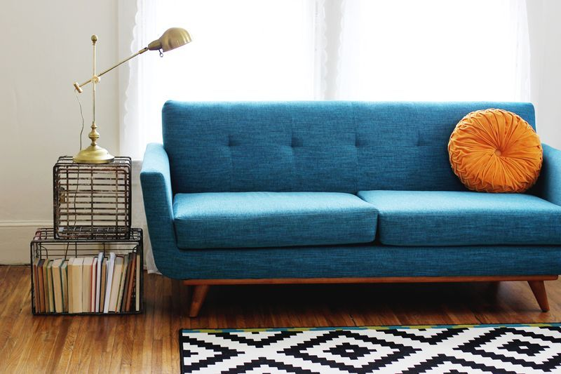 Metal Crate Coffee Table + Thrive Furniture Couch homestyle
