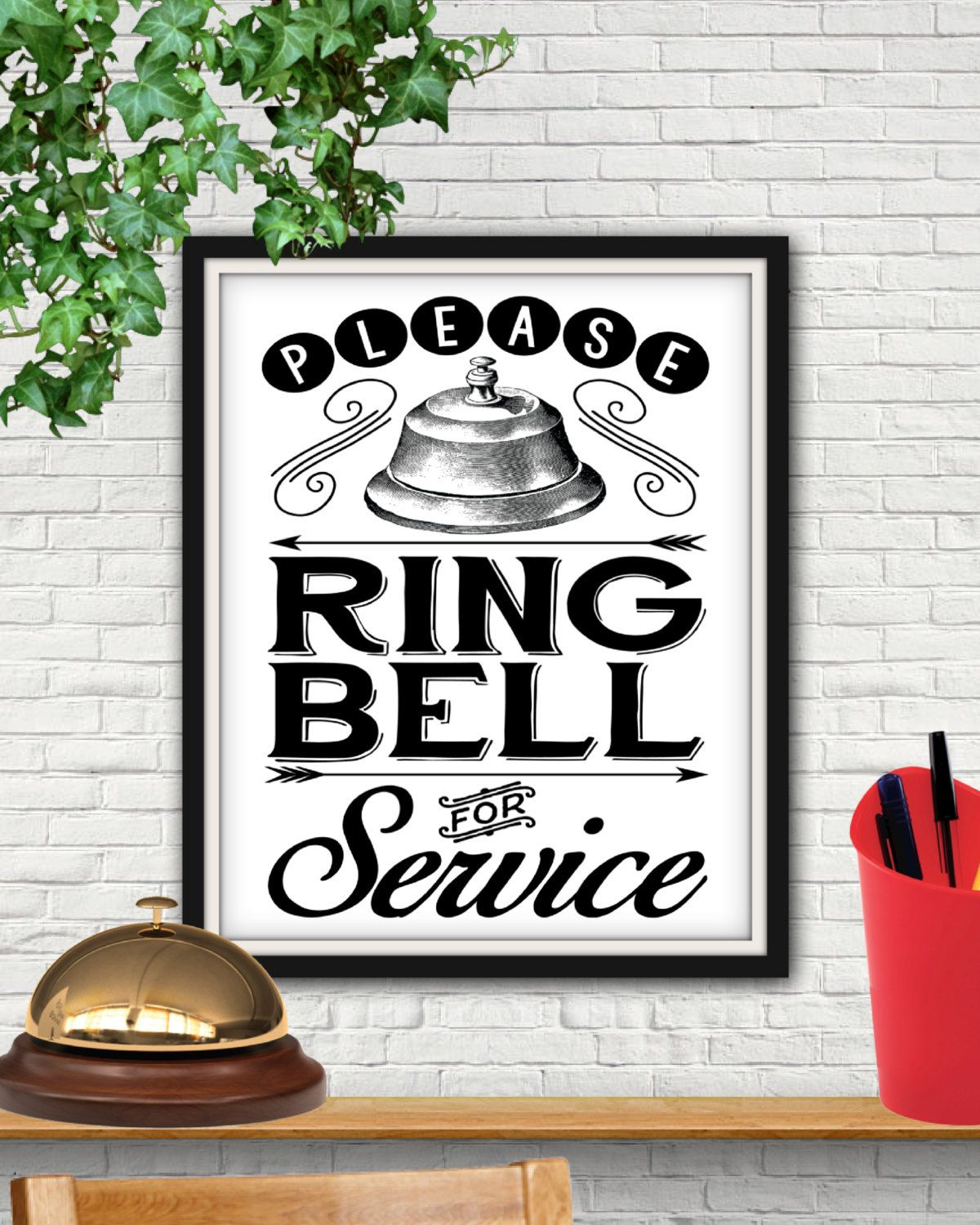 Ring Bell For Service Decal Sign Business Store Vinyl Window Decal