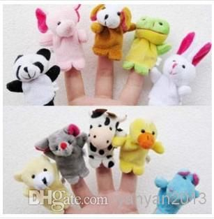 2016 New Retail Baby Plush Toy Finger Puppets Talking Props 10