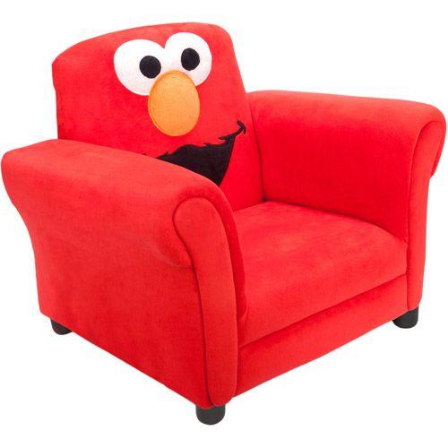 Walmart Sesame Street Elmo Upholstered Chair Cozy Kids Chair