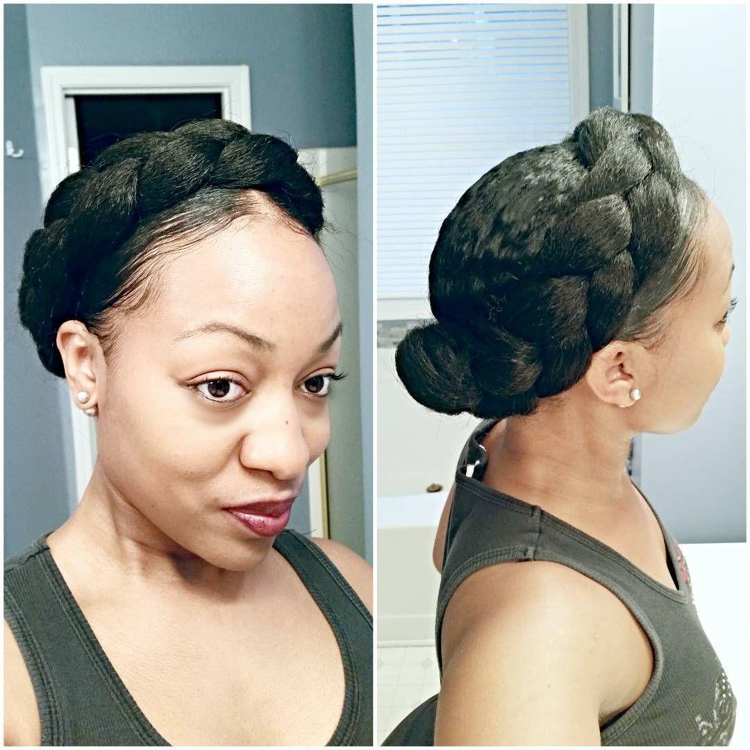 Faux Halo Goddess Braid www.youtube.com/inyaco #halobraid #protectivestyles #goddessbraid #fauxgoddessbraid #goddessbraids