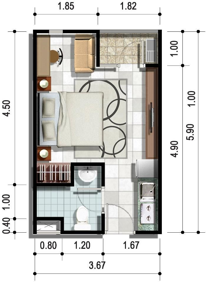 1 Bedroom Apartments Mn: Small House Plans, House