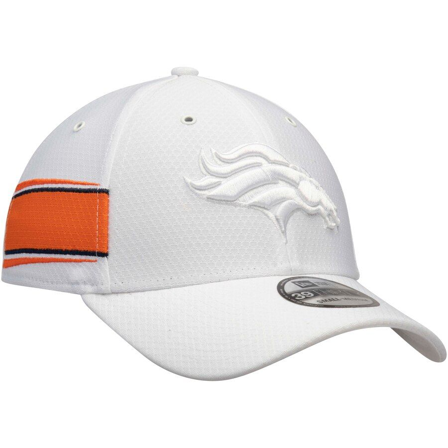pretty nice 6562f f966c Men s New Era White Denver Broncos Kickoff 39THIRTY Flex Hat