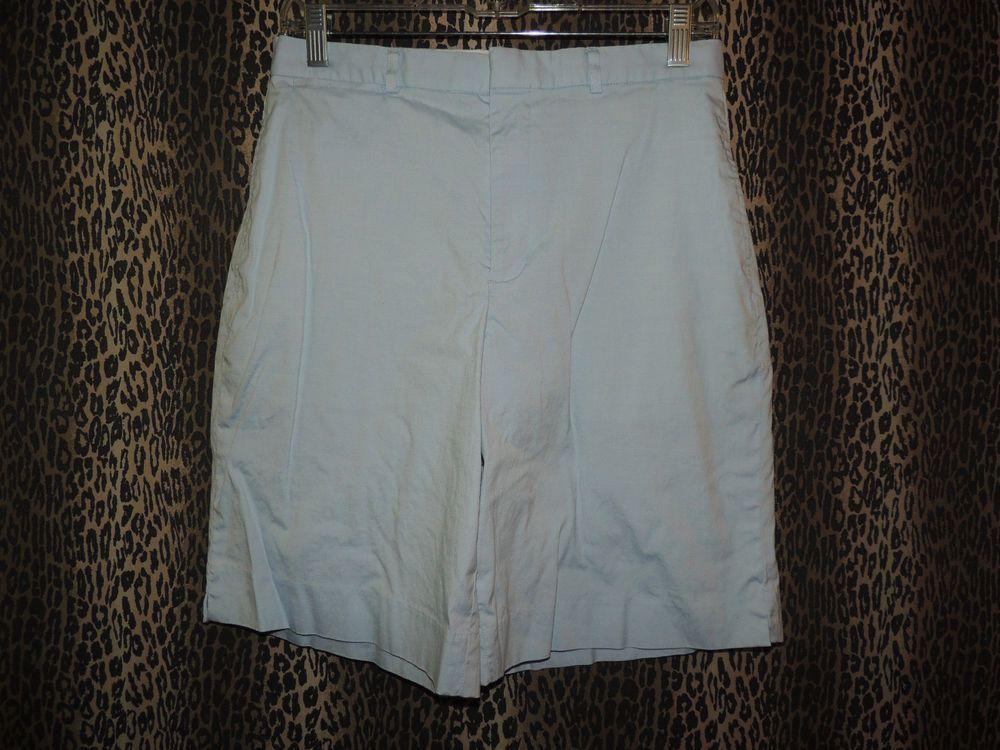 """Ralph Lauren """"Golf"""" Women's Stretch Light Blue Bermudas Walking Shorts Size 8 #RalphLaurenGolf #Golf"""
