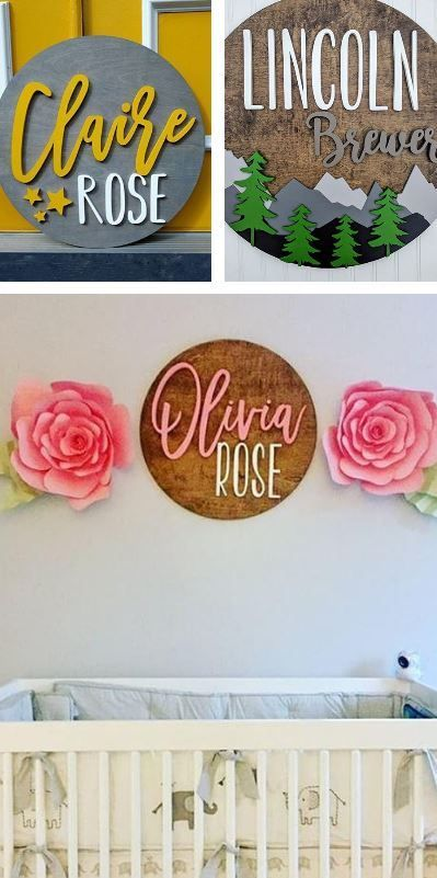 I Love These Custom Name Wood Signs Perfect To Put Up In