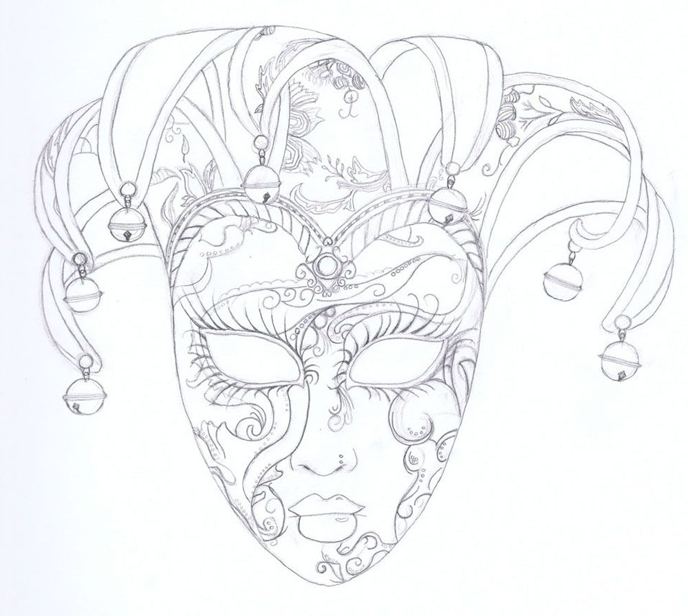 Venitian Mask Drawings