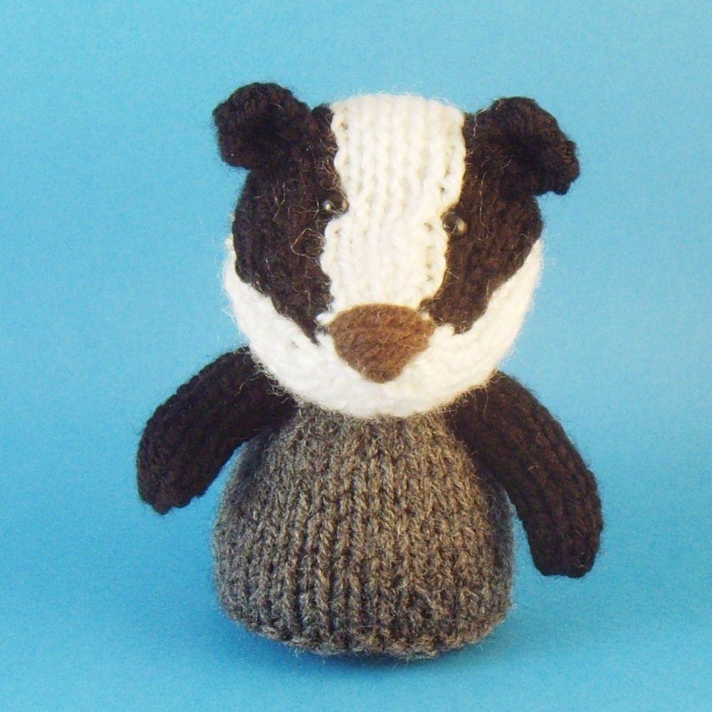 Badger Toy Knitting Pattern (PDF). $3.50, via Etsy.
