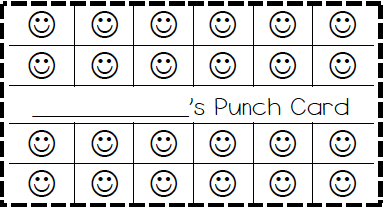 classroom behavior ticket template also made elephant cupcake bee and fish punch cards too. Black Bedroom Furniture Sets. Home Design Ideas