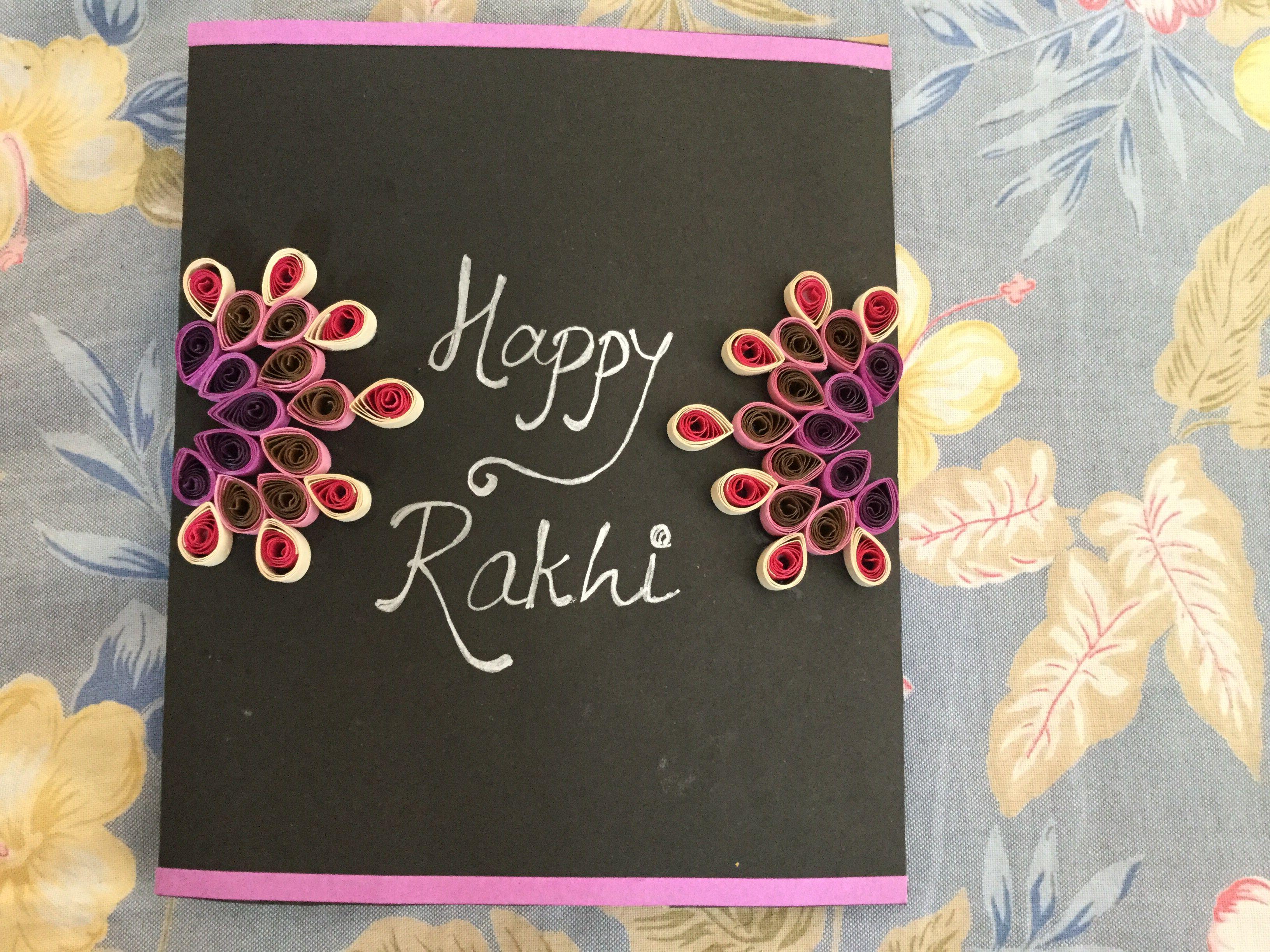 Rakhi Card With Quilling Handmade Stuff Pinterest Rakhi