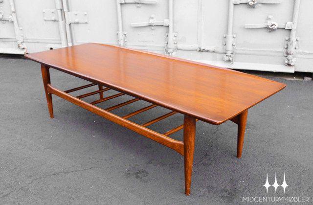 Best Mid Century Modern Bassett Artisan Surfboard Coffee Table 400 x 300