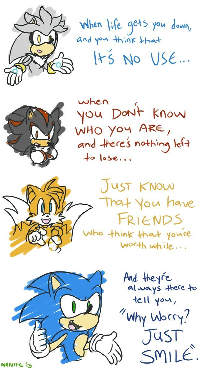Just Smile By Nanitecity Sonic And Shadow Sonic The Hedgehog Sonic Funny