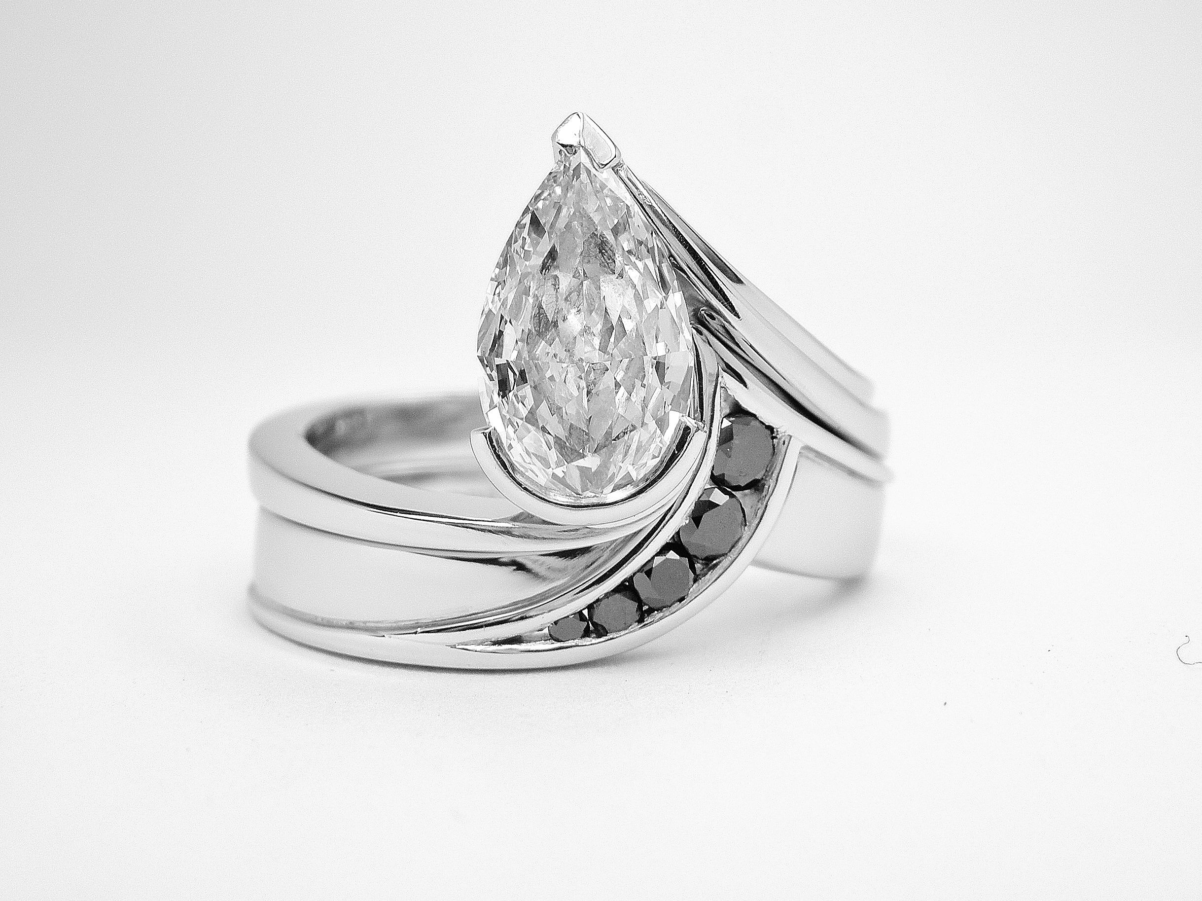 of wedding your me band rings neil lane pear with show elegant s la shaped ring engagement