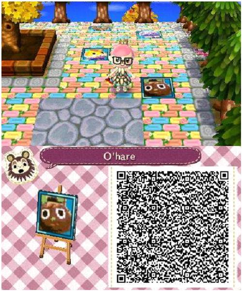 Acnl Animal Crossing New Leaf Qr Codes Villager Portraits
