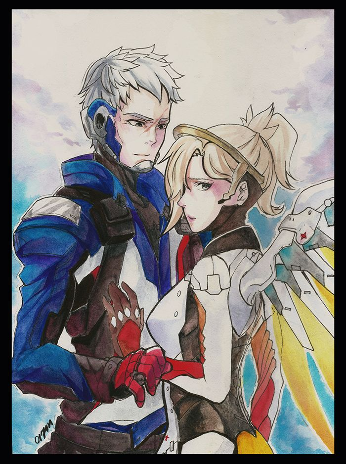 c9e17b3a8d7a0 Soldier 76 and Mercy by 017m