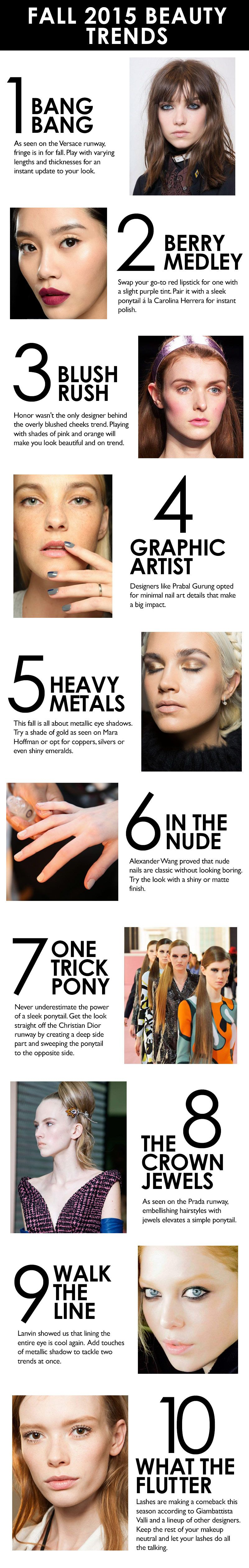 A Guide To The Best Beauty Trends For Fall 2015 | Living ...