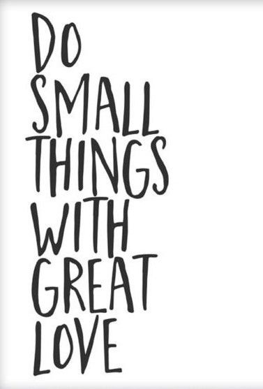 Quote Printable Wall Art Do Small Things With Great Love Printable