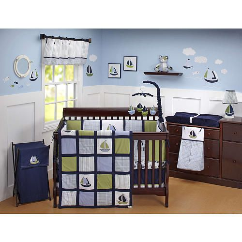 Nautica Zachary (sail boats) | Nursery Ideas | Baby crib ...
