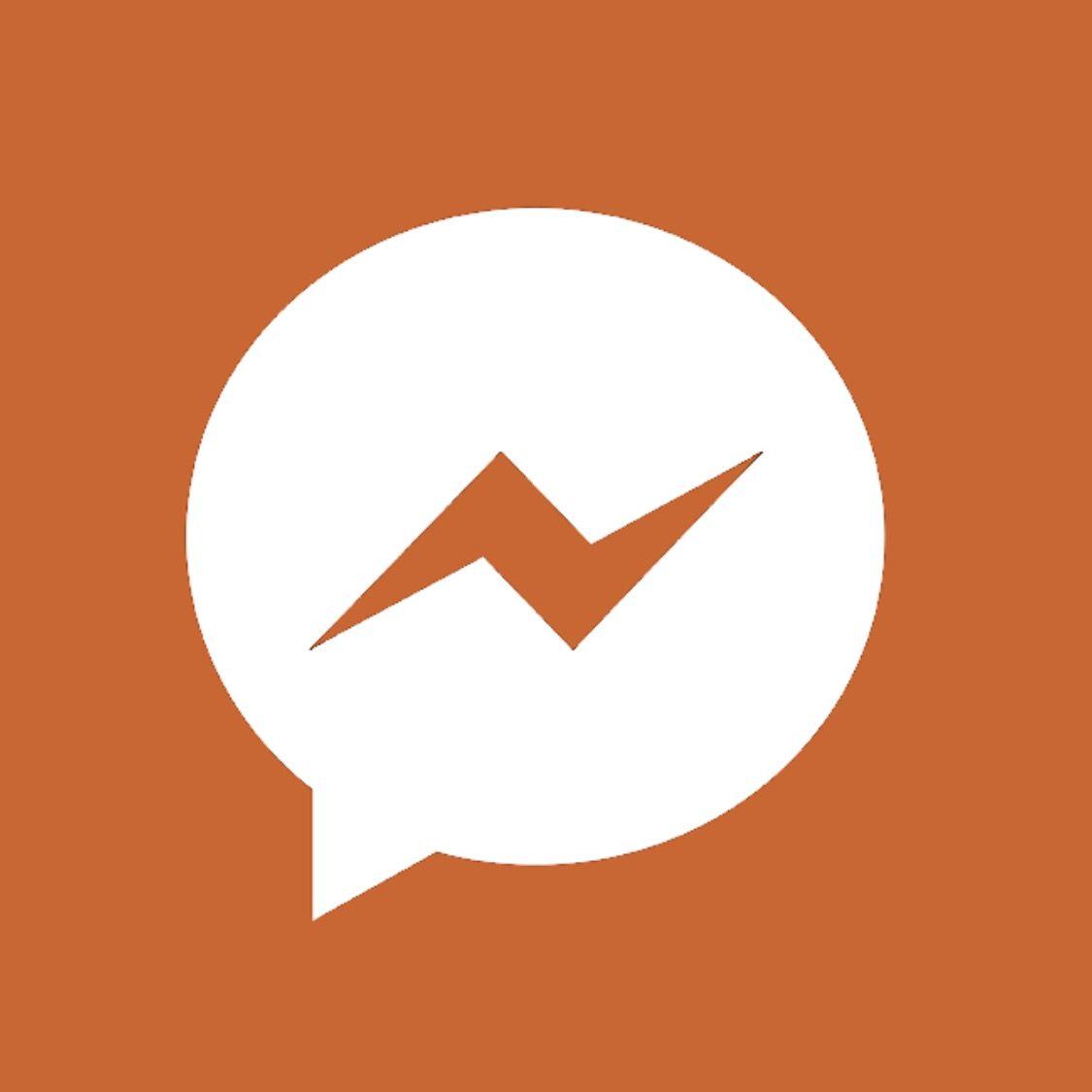 Burnt Orange Facebook Messenger Messenger Logo Company Logo Orange