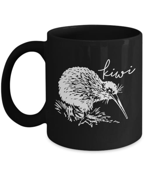 Shirt White Kiwi Bird Silhouette New Zealand Coffee Mug
